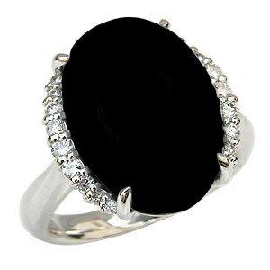 オニキスリング オニキス指輪 黒瑪瑙 黒メノウ ダイヤモンド 0.21ct ホワイトゴールド K18WG 18金  8月誕生石 Onyx 誕生日プレゼント ホワイトデー クリスマスプレゼント