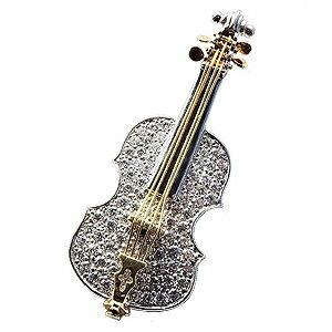 バイオリンブローチ バイオリン ラペルピン ダイヤモンド ブローチ タイニーピン ピンブローチ ピンズ ホワイトゴールド イエローゴールド K18 楽器 送料無料 クリスマス 誕生日 ホワイトデー 記念日 プレゼント ギフト 4月誕生石