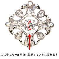 タイニーピンK18WGホワイトゴールドダイヤモンドメンズブローチダンシングストーントゥインクルセッティング【RCP】