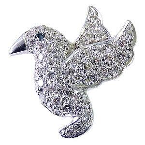ダイヤモンド ブルーダイヤモンド 鳥 バード ブローチ ラペルピン タイニーピン ピンズ ピンブローチ ダイヤモンド ブルーダイヤ ホワイトゴールド 送料無料 クリスマス 誕生日 ホワイトデー 記念日 プレゼント ギフト