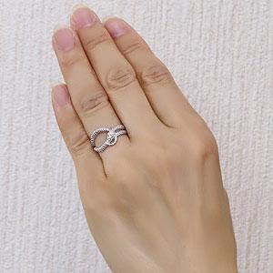スネーク リング ダイヤモンド 0.01ct へび 蛇 ヘビ 指輪 プラチナ PT900