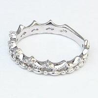 ダイヤモンドリングティアラリング王冠ダイヤモンド指輪ダイヤ0.03ctK18ホワイトゴールド【RCP】