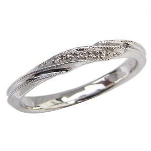 ダイヤモンドリング ダイヤモンド指輪 ダイヤモンド 0.02ct K18 ホワイトゴールド