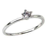 ダイヤモンドリングエンゲージリング立爪ダイヤモンド0.15ct婚約指輪一粒ダイヤモンドプラチナPT900【RCP】