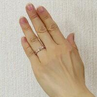 ハートリングダイヤモンドリング指輪ハートモチーフピンクゴールドK10ダイヤ0.06ct【RCP】