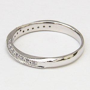 ダイヤモンドリング ダイヤモンド指輪 ダイヤモンド 0.10ct K18WG ホワイトゴールド