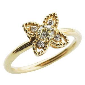 ダイヤリング ダイヤモンド リング ダイヤモンド指輪 ダイヤモンド 0.30ct フラワー花モチーフ 18金 ゴールド K18  誕生日プレゼント クリスマスプレゼント ホワイトデー 記念日