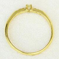 ダイヤモンドリングピンキーリングK18ゴールド指輪【RCP】