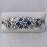 指輪サファイア9月誕生石ダイヤモンドサファイヤリングPT900プラチナ900指輪