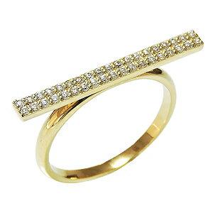ダイヤモンドリング ピンキーリング ダイヤリング ダイヤモンド指輪 ダイヤモンド 0.19ct パヴェリング K18 ゴールド 18金  レディース 4月誕生石 誕生日プレゼント クリスマスプレゼント ホワイトデー 記念日
