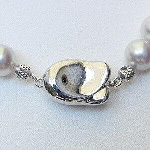 あこや本真珠ネックレス パールネックレス 7.5mm-8.0mm アコヤ本真珠 SV シルバー