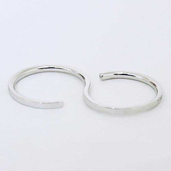 リング 二本指型 ダイヤモンド PT900プラチナ レディース