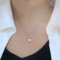 パールペンダントトップあこや本真珠直径8.5mmアコヤダイヤモンド0.05ctPT900プラチナ