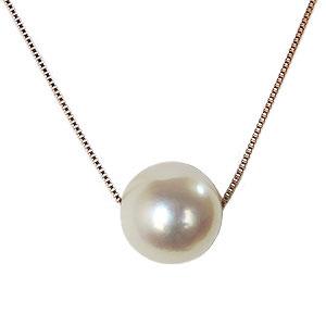 真珠 パール スルーネックレス あこや本真珠 7-7.5mm ピンクゴールド K10PG