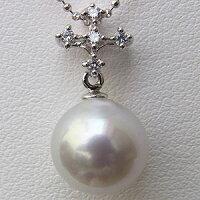 パール:真珠:ペンダントトップ(ヘッド):南洋白蝶真珠:10mm:プラチナ:PT900
