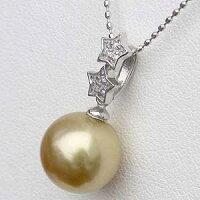 ネックレスペンダント南洋真珠パールホワイトゴールドネックレス星ダイヤモンドジュエリー