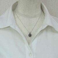 真珠ブラックパールペンダントトップタヒチ黒蝶真珠PT900プラチナ真珠の直径10mmグリーン系ダイヤモンド3石計0.05ctペンダントトップ