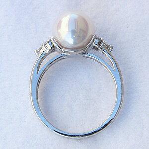 パールリング レディース 真珠の指輪 あこや真珠 ダイヤモンド ホワイトゴールド パール 6月誕生石 贈答 プレゼント 冠婚葬祭 結婚 ブライダル 入学 入園 卒業 卒園 保証書付 ケース付