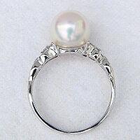 パール真珠リングプラチナ真珠パール指輪ダイヤモンド【RCP】