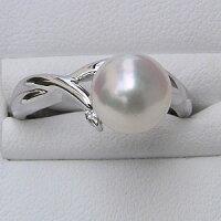 パールリング真珠指輪あこや真珠シルバーsilverパールリングキュービックジルコニア【RCP】
