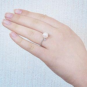 パールリング レディース 真珠の指輪 あこや本真珠 ホワイトゴールド 9mm アコヤ あこや 真珠の指輪 パールリング 6月誕生石 ジュエリー 贈答 冠婚葬祭 結婚 ブライダル 入学 入園 卒業 卒園 保証書付