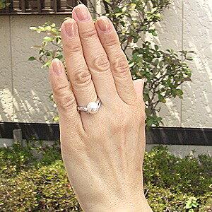 パールリング レディース 真珠の指輪 花珠あこや本真珠 花珠真珠 ダイヤモンド プラチナPT900 0.05ct 真珠の指輪 リング パールリング 6月誕生石 贈答 プレゼント 冠婚葬祭 結婚 ブライダル 入学 入園 卒業 卒園 保証書付 ケース付
