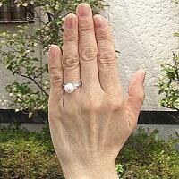 花珠真珠パールリング真珠指輪あこや本真珠大珠9mm純プラチナPT999ダイヤモンド0.21ct【RCP】