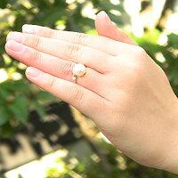 花珠真珠パールリング真珠指輪あこや真珠9mmパール純プラチナPT999ダイヤモンド0.08ct【RCP】