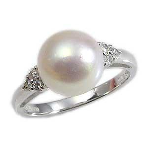 パールリング レディース 真珠の指輪 あこや本真珠 ダイヤモンド PT900プラチナ 9mm アコヤ あこや 真珠の指輪 リング 6月誕生石 ジュエリー 贈答 プレゼント 冠婚葬祭 結婚 ブライダル 入学 卒業 保証書付 ケース付