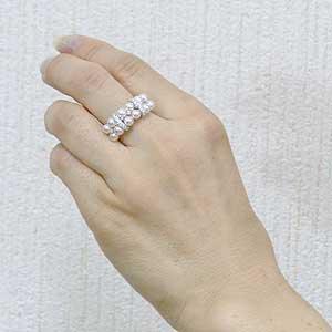 パールリング レディース 真珠の指輪 あこや真珠 ダイヤモンド ホワイトゴールド アコヤ あこや 真珠の指輪 リング 6月誕生石 ジュエリー 贈答 プレゼント 冠婚葬祭 結婚 ブライダル 入学 卒業 保証書付 ケース付