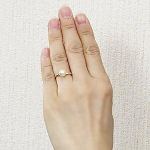 パールリング レディース 真珠の指輪 あこや真珠 K18ゴールド 7mm デザインカットリング シンプル アコヤ あこや 真珠の指輪 リング 6月誕生石 ジュエリー 贈答 プレゼント 冠婚葬祭 結婚 ブライダル 入学 卒業 保証書付 ケース付