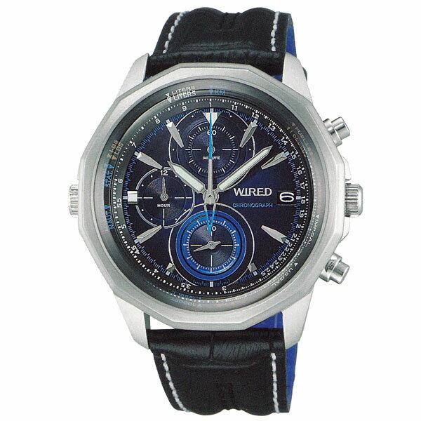 SEIKO ワイアード WIRED THE BLUE ザ・ブルー 男性用 多針アナログ 腕時計 正規品 1年保証書付 AGAW422