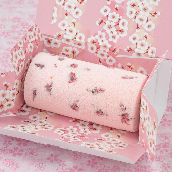 サクラ咲くロール 1本 / 新杵堂 ロールケーキ 洋菓子 桜 さくら サクラ スイーツ 洋菓子 ギフト お土産