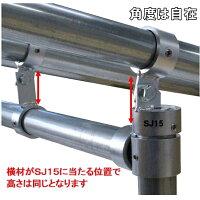 単管パイプジョイントφ48.6mm用ホーローセットでがっちり固定
