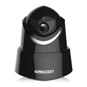 Keekoonネットワークカメラ2017年最新版1080P防犯監視カメラwifi接続双方向音声動体検知警報機能暗視撮影高解像度スピーカー&マイク搭載ワイヤレスIPカメラベービーモニターモニタリングワイヤレスカメラ小型Android/iOS対応ペット監視(黒・白・200万画素)