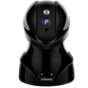 ネットワークカメラワイヤレスIPカメラ1080P200万画素ベビーモニター監視カメラWIFI対応首振り式暗視撮影・マイク内蔵通信可能音声双方向機能動体検知ペット/子供見守り(黒/白2色)