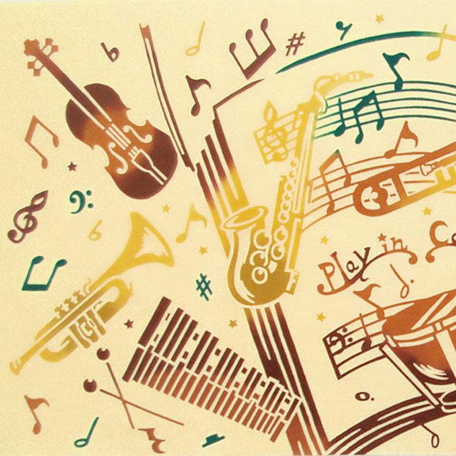 注染手拭い 『みんなで合奏』 kenema 【注染手ぬぐい 趣味道楽】 【追跡可能メール便送料無料!】【 手拭い 手ぬぐい 吹奏楽 ブラスバンド ブラバン バイオリン ティンパニ シンバル ホルン トランペット トロンボーン 管楽器 打楽器 音符 楽譜 】