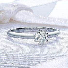 一粒ダイヤモンド婚約指輪