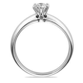一粒ダイヤモンド婚約指輪(縦)
