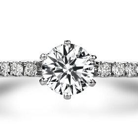 サイドストーン・エンゲージリング(結婚指輪)ハート&キューピッドのダイヤモンド
