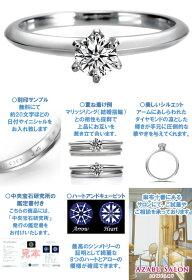 プラチナ一粒ダイヤモンドエンゲージリング【詳細】