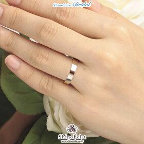 Pt950(鍛造・プラチナ)フラット・マリッジリング3.5mm/結婚指輪/人気/通販/ランキング(着用)
