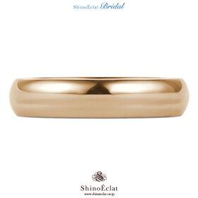 K18RG(鍛造)スタンダード・マリッジリング・結婚指輪4mm/ピンクゴールド/人気/ランキング/通販(正面)