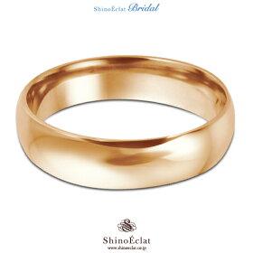 K18RG(鍛造)スタンダード・マリッジリング・結婚指輪4mm/ピンクゴールド/人気/ランキング/通販(俯瞰)