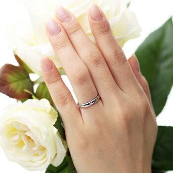 K18 White Gold Wedding Ring Standard 3mm With Diamond Tyakuyou
