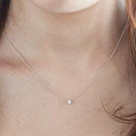 ネックレス/首飾り/necklace/ダイヤモンド/DIAMOND/女性用【着用アップ】