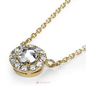 K18ローズカットネックレス/rosecutnecklace/diamond/首飾り/ダイヤモンド/結婚記念日/クリスマスプレゼント/サイドイメージ