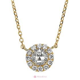 K18ローズカットネックレス/rosecutnecklace/diamond/首飾り/ダイヤモンド/結婚記念日/クリスマスプレゼント/正面画像