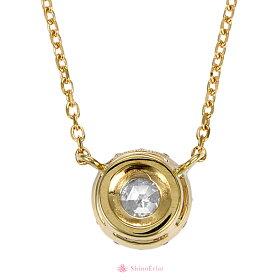 K18ローズカットネックレス/rosecutnecklace/diamond/首飾り/ダイヤモンド/結婚記念日/クリスマスプレゼント/背面画像