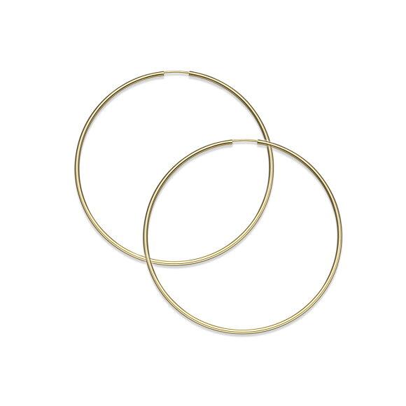 K18 フープピアス フープ ピアス HOOP PIERCE 18k 18金 ゴールド アンフィニ 1.5mm × 50mm メインイメージ